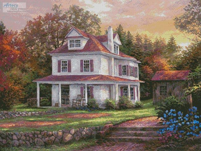 cross stitch pattern Stone Terrace Farm