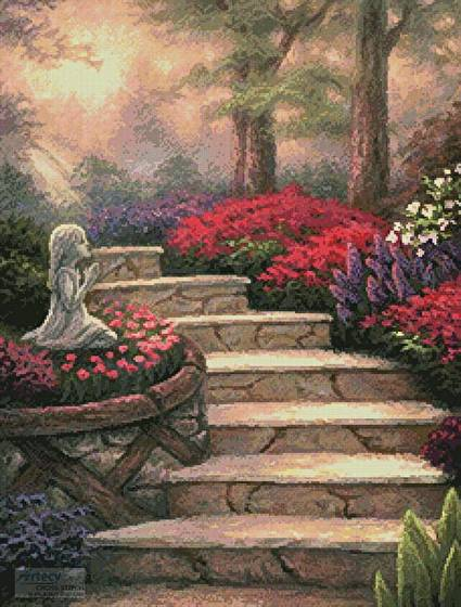 cross stitch pattern Steps of Providence