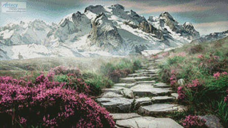 cross stitch pattern Stairway to the Mountains