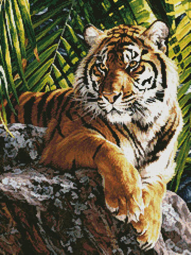 cross stitch pattern Sumatran Tigress (Crop)
