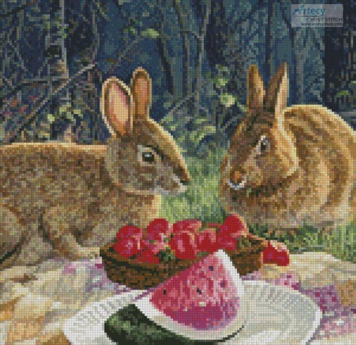 cross stitch pattern Sunny Bunnies (Crop 1)