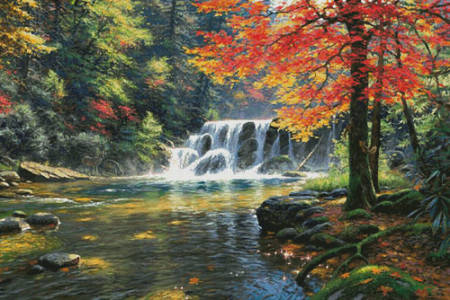 cross stitch pattern Tranquil Falls (Large)
