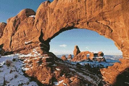 cross stitch pattern Turret Arch (Crop)
