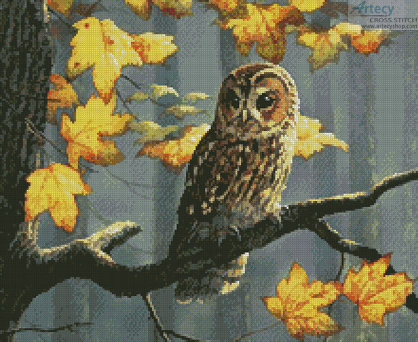 cross stitch pattern Tawny Owl (Crop)
