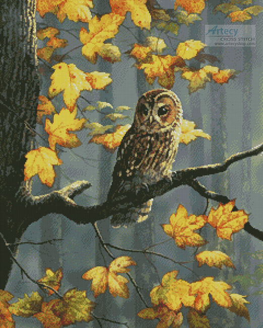 cross stitch pattern Tawny Owl