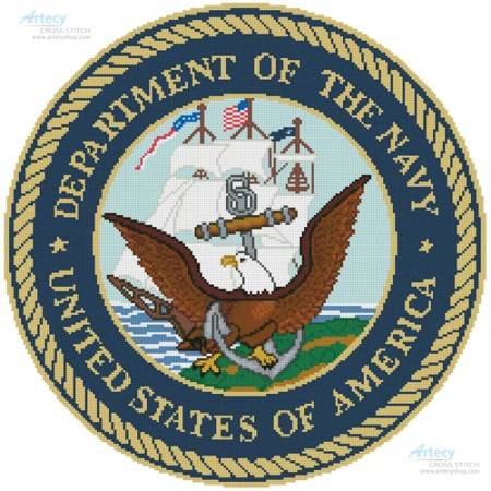 cross stitch pattern US Navy Seal