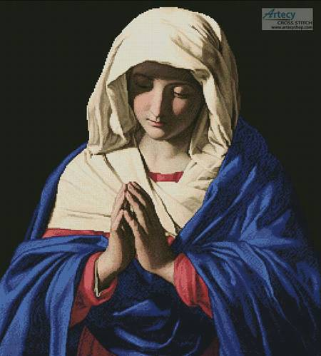 cross stitch pattern The Virgin in Prayer 2