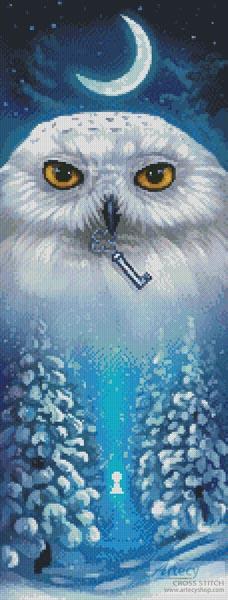 cross stitch pattern Winter Owl