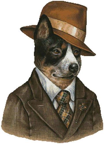 cross stitch pattern Australian Cattle Dog Reporter