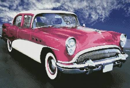 cross stitch pattern The American Dream (Pink)