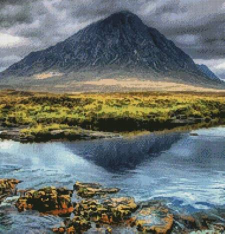 cross stitch pattern Buachaille Etive Mor Glencoe (Crop)