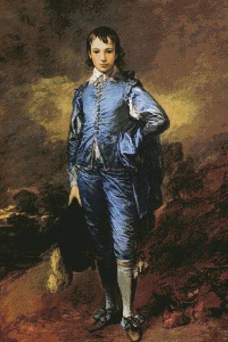 cross stitch pattern Blue Boy (Large)