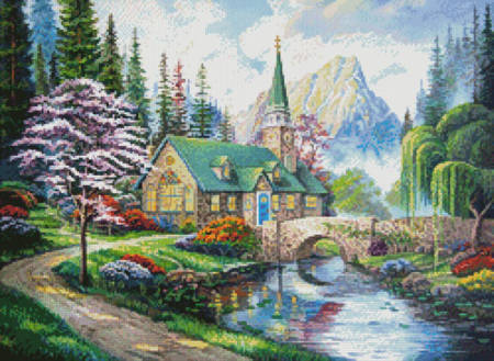 cross stitch pattern The Church in the Forest