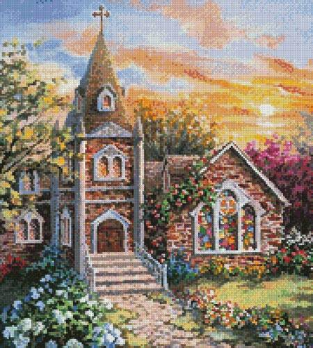 cross stitch pattern Charming Tranquility 2 (Crop)