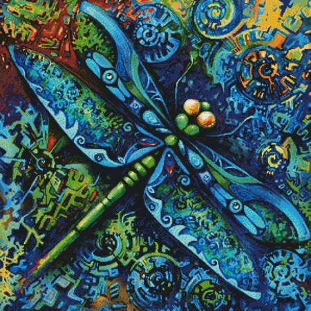 cross stitch pattern Dragonfly Painting