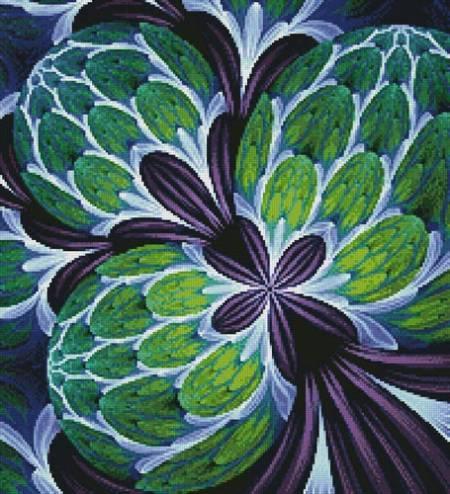 cross stitch pattern Fabulous Fractal (Crop)