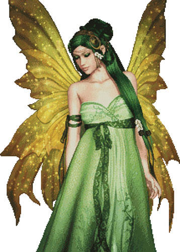 cross stitch pattern Fairy of the Forest (No Background)