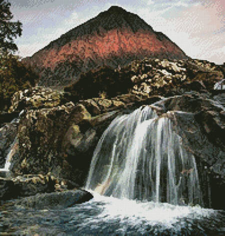 cross stitch pattern First Light on the Buachaille (Crop)
