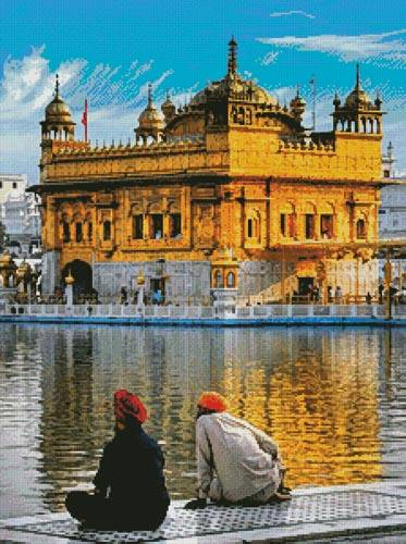 cross stitch pattern Golden Temple