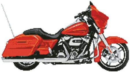 cross stitch pattern 2006 Harley Street Glide (Orange)