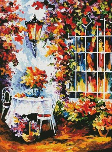 cross stitch pattern In the Garden Painting