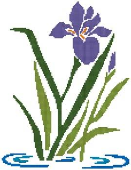 cross stitch pattern Iris