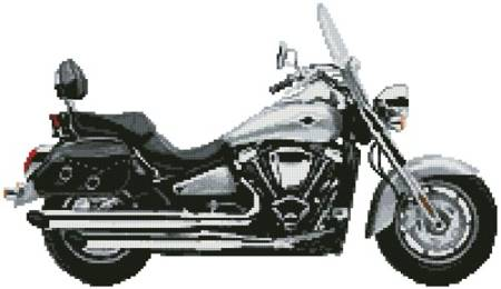 cross stitch pattern Kawasaki Vulcan 2000
