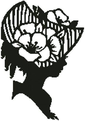 cross stitch pattern Lady Silhouette 11