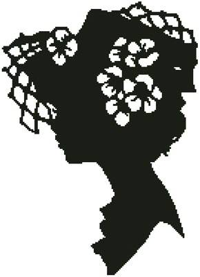 cross stitch pattern Lady Silhouette 12