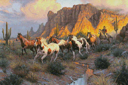 cross stitch pattern Legends of the West