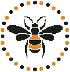 cross stitch pattern Little Bee
