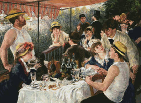 cross stitch pattern Luncheon of the Boating Party