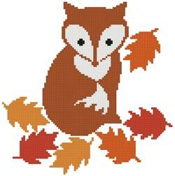 cross stitch pattern Little Fox