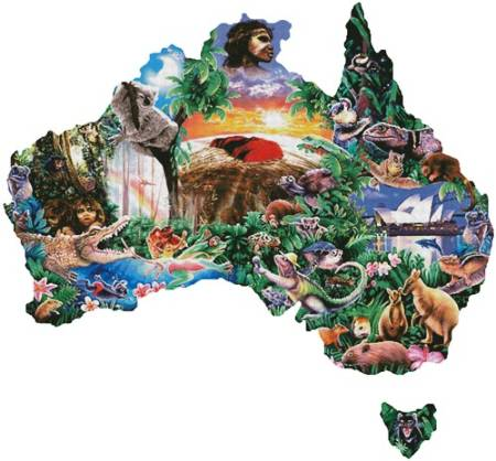 cross stitch pattern Map of Australia (Large)