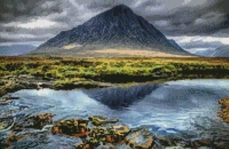 cross stitch pattern Mini Buachaille Etive Mor Glencoe
