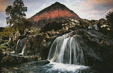 cross stitch pattern Mini First Light on the Buachaille