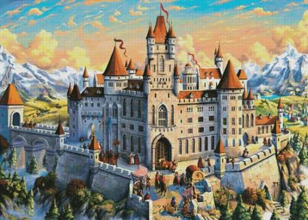 cross stitch pattern Magnificent Castle (Large)