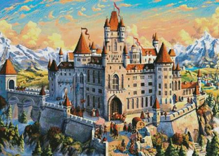 cross stitch pattern Magnificent Castle