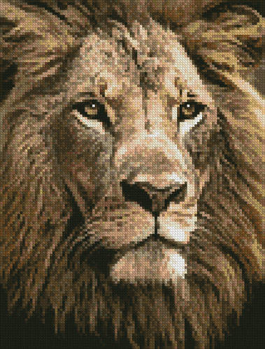 cross stitch pattern Mini Lion Close up