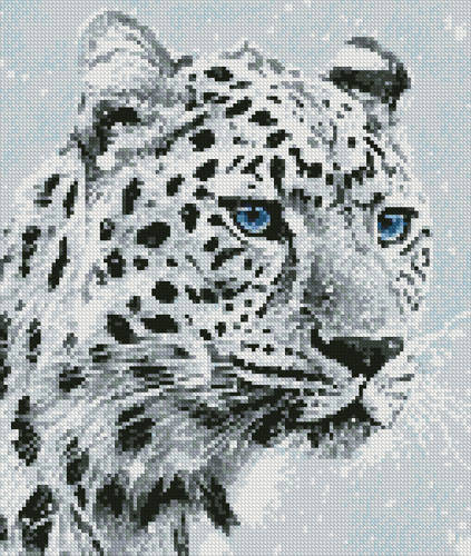 cross stitch pattern Mini Leopard in Snow