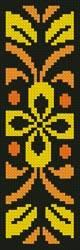cross stitch pattern Ornamental Bookmark 1