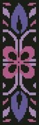 cross stitch pattern Ornamental Bookmark 2
