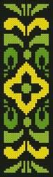 cross stitch pattern Ornamental Bookmark 3