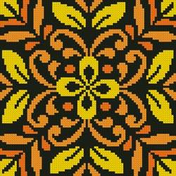 cross stitch pattern Ornamental Square 1