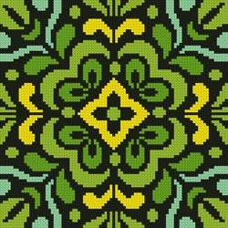 cross stitch pattern Ornamental Square 3