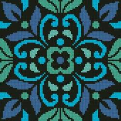 cross stitch pattern Ornamental Square 4