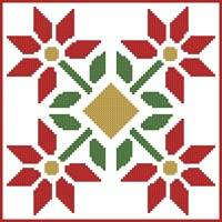 cross stitch pattern Quilt Square 1