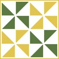 cross stitch pattern Quilt Square 2
