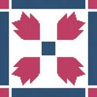 cross stitch pattern Quilt Square 3