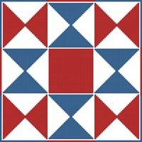 cross stitch pattern Quilt Square 4